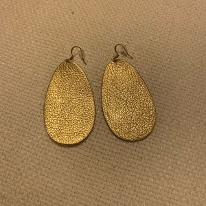 Jewelry - Gold Leather Earrings